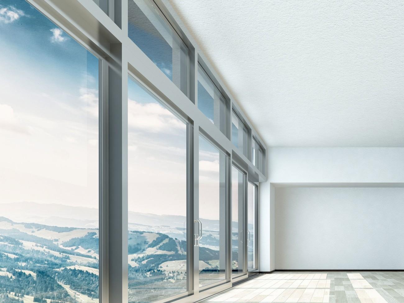 Aluminium doors with beautiful view
