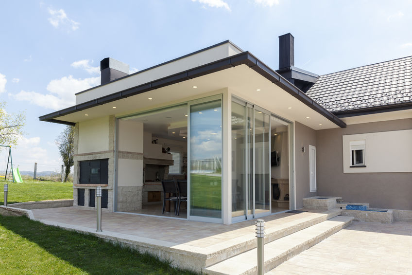 Countryside house with aluminium doors